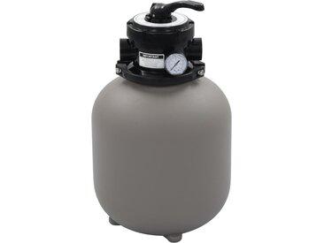 Filtre à sable pour piscine avec vanne 4 positions Gris 350 mm - vidaXL