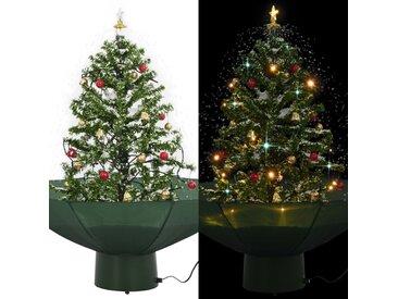 Arbre de Noël neigeux avec base de parapluie Vert 75 cm - vidaXL