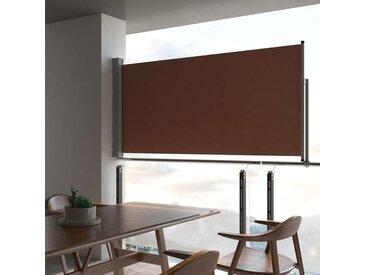 Auvent latéral rétractable de patio 120x300 cm Marron - vidaXL