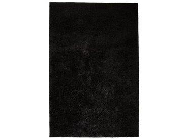 Tapis à poils longs 80 x 150 cm Noir  - vidaXL