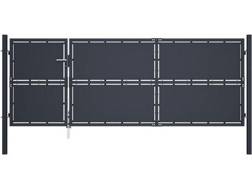 Portail de jardin Acier 350 x 125 cm Anthracite - vidaXL