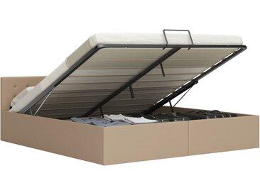 Cadre de lit à rangement Cappuccino Similicuir 180x200 cm - vidaXL
