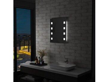 Miroir mural à LED pour salle de bains 50 x 60 cm - vidaXL