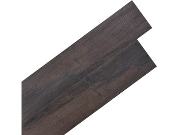Planche de plancher PVC autoadhésif 5,02 m² 2 mm Marron foncé - vidaXL