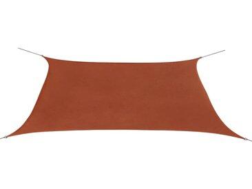 Parasol en tissu Oxford rectangulaire 2 x 4 m Ocre marron  - vidaXL
