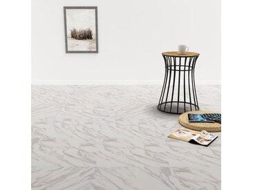 Planche de plancher PVC autoadhésif 5,11 m² Blanc Marbre - vidaXL