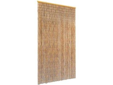 Rideau de porte contre insectes Bambou 100 x 200 cm - vidaXL