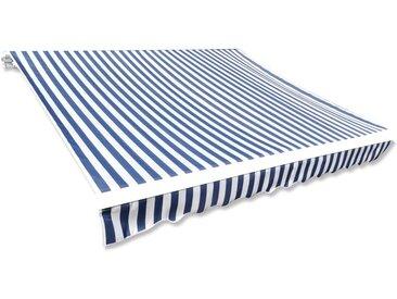 Toit d'auvent Toile Bleu et blanc 6x3 m (Cadre non inclus) - vidaXL