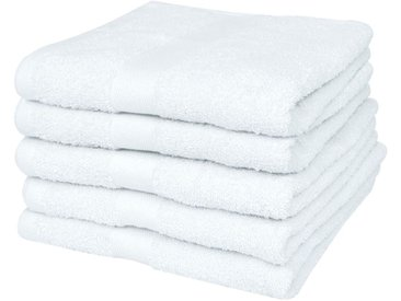 Serviette pour sauna 25 pcs Coton 400 gsm 80 x 200 cm Blanc  - vidaXL