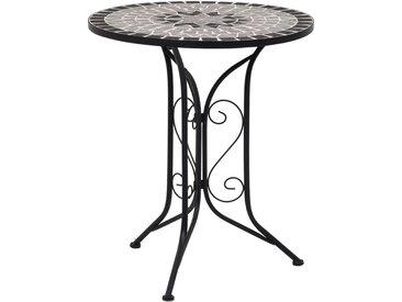 Table de bistro mosaïque Gris 61 cm Céramique - vidaXL