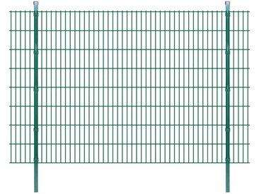 Panneaux et poteaux de clôture 2D pour jardin 2008x1630 mm 26 m - vidaXL
