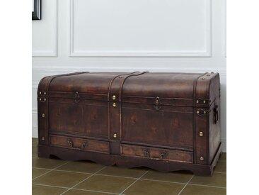 Coffre de rangement en bois Large Marron  - vidaXL