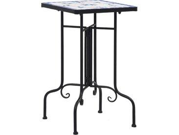 Tables d'appoint mosaïque Bleu et blanc Céramique  - vidaXL