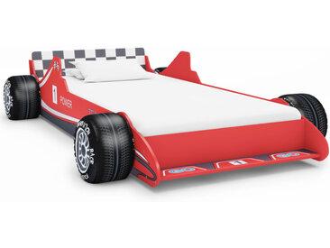 Lit voiture de course pour enfants 90 x 200 cm Rouge - vidaXL