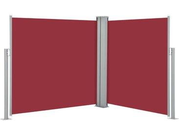 Auvent latéral rétractable Rouge 120 x 600 cm - vidaXL