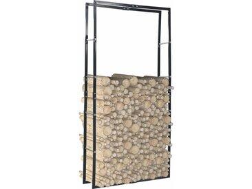 Portant de bois de chauffage Noir 100x25x200 cm Acier - vidaXL