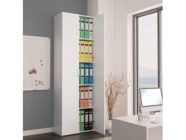 Armoire de bureau Blanc 60 x 32 x 190 cm Aggloméré - vidaXL