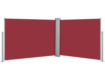 Auvent latéral rétractable Rouge 120 x 1000 cm - vidaXL