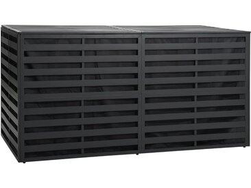 Boîte de rangement de jardin Aluminium 200x100x100cm Anthracite - vidaXL