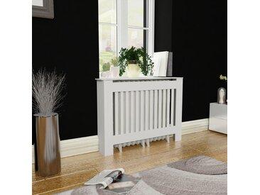Cache-radiateur 112 cm MDF Blanc - vidaXL
