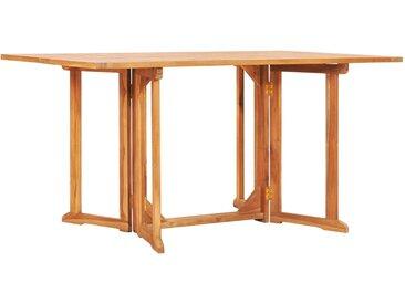 Table pliable de jardin papillon 150x90x75 cm Bois teck solide - vidaXL