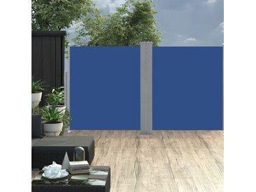 Auvent latéral rétractable 170 x 600 cm Bleu - vidaXL