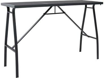 Table de bar de jardin Noir 180x60x110 cm Verre trempé - vidaXL