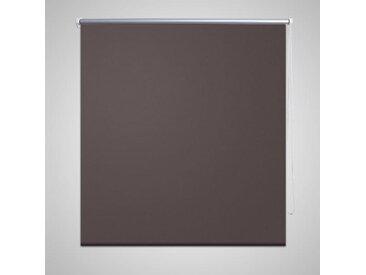 Store enrouleur occultant 160 x 175 cm marron - vidaXL