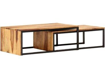 Tables gigognes 2 pcs Bois solide  - vidaXL