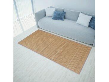 Tapis en bambou 160 x 230 cm Marron - vidaXL