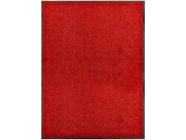 Paillasson lavable Rouge 90x120 cm - vidaXL