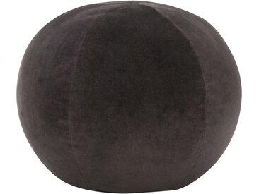 Pouf Velours de coton 50 x 35 cm Anthracite  - vidaXL