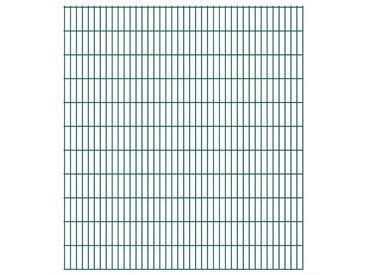 Panneaux de clôture de jardin 2D 2,008x2,23 m 36 m total Vert - vidaXL