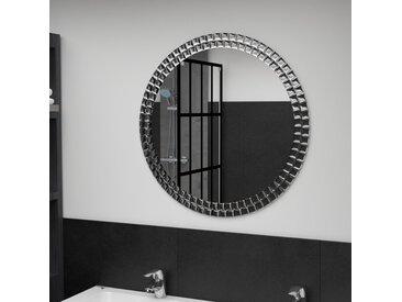 Miroir mural Argenté 70 cm Verre trempé - vidaXL