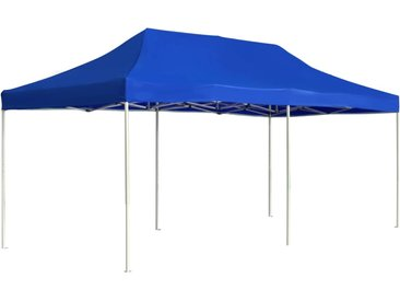 Tente de réception pliable Aluminium 6 x 3 m Bleu - vidaXL