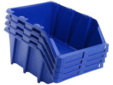 Bac de rangement empilable 15 pcs 310x490x195 mm Bleu - vidaXL