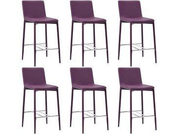 Chaises de bar 6 pcs Violet Similicuir - vidaXL