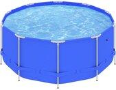 Piscine avec cadre en acier 367x122 cm Bleu - vidaXL