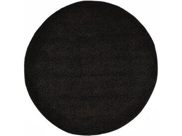 Tapis Shaggy 160 cm Noir - vidaXL