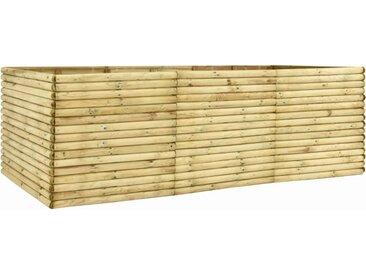 Lit surélevé de jardin 300x150x96 cm Bois de pin imprégné  - vidaXL