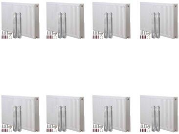 Radiateurs à convecteur à connecteurs latéraux 8pcs 120x10x60cm - vidaXL