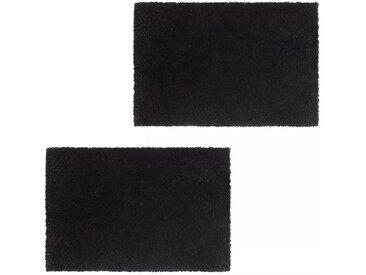 Paillasson 2 pcs Fibre de coco 24 mm 50 x 80 cm Noir - vidaXL