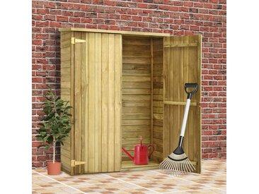 Abri à outils de jardin 123x50x171 cm Pinède imprégnée - vidaXL
