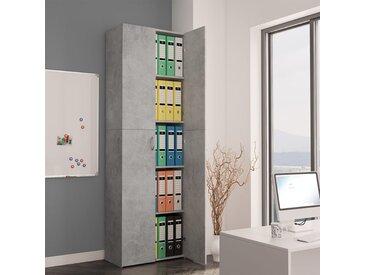 Armoire de bureau Gris cement 60x32x190 cm Aggloméré - vidaXL