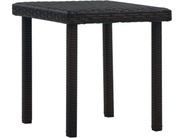 Table à thé de jardin Marron 40x40x40 cm Résine tressée - vidaXL