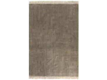 Tapis Kilim Coton 200 x 290 cm Taupe - vidaXL