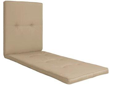Coussin de chaise longue Beige 118x60x5 cm - vidaXL