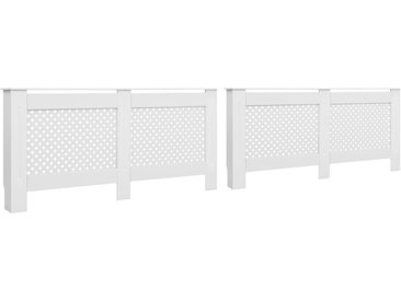 Cache-radiateurs 2 pcs Blanc 152x19x81,5 cm MDF - vidaXL