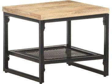Table d'appoint 40x40x35 cm Bois de manguier massif - vidaXL