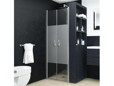 Portes de cabine de douche ESG demi-dépoli 80x185 cm - vidaXL